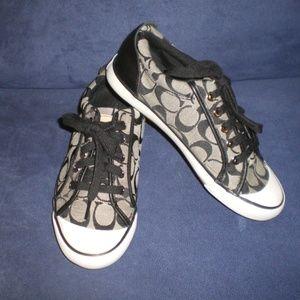 COACH Black Barrett Tennis Shoes/Sneakers sz 7B
